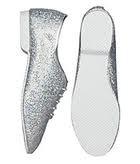 Elite brand silver hologram jazz shoe