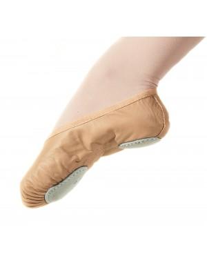 Elite brand split-sole leather ballet shoe