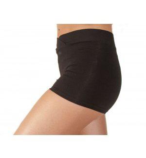 Elite cotton hotpants, black with v-shaped front