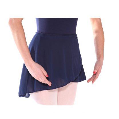 ISTD Wrap-over poly-crepe dance skirt