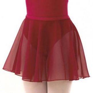 ISTD Plum chiffon skirt circular ballet skirt