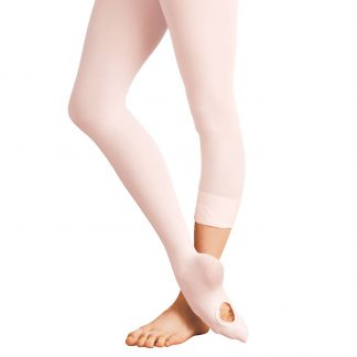 Bloch endura adaptatoe dance tights, convertible/transition