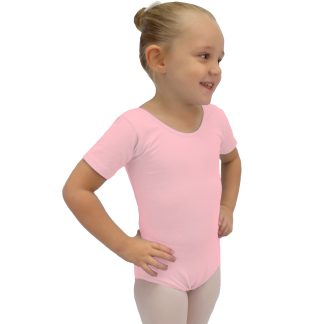 Shirt Sleeve Ballet Leotard-Pink_elite Dance Supp;lies-Trade/Wholesale