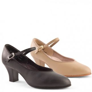 Capezio Student Footlight Character Shoe in tan and Black (650)